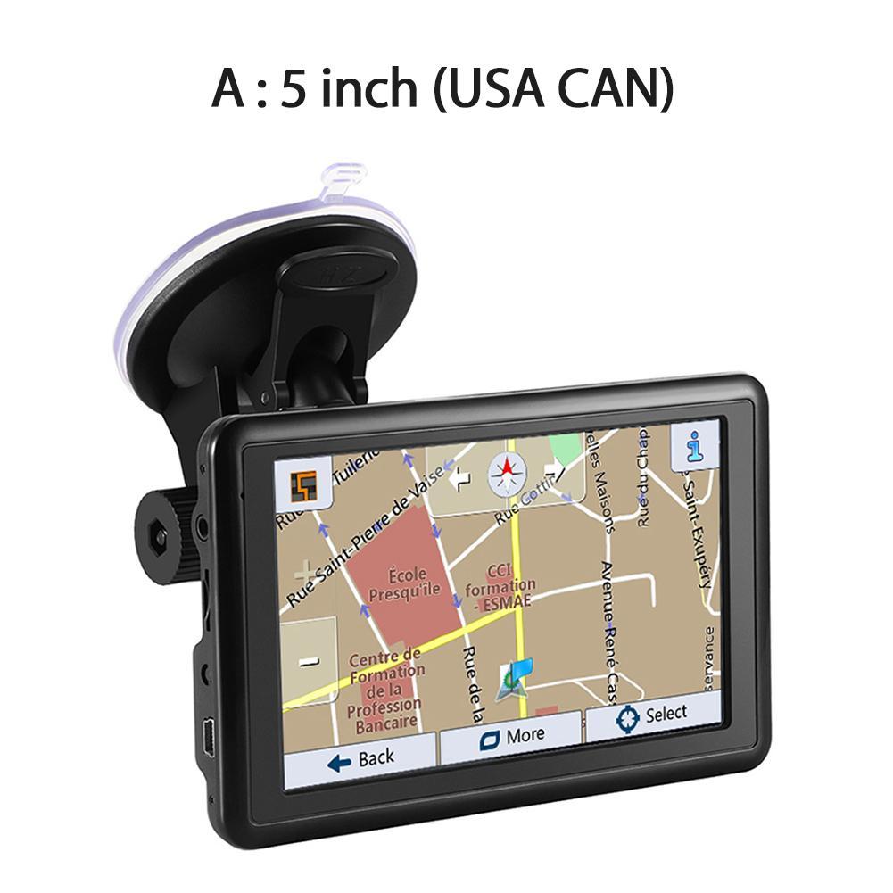 "5"" HD Car GPS Navigation USB Car Charger Latest Europe US Canada Map Convenient FM Transmitter Navigator GPS Device"