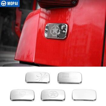 MOPAI samochodowe zewnętrzne z tyłu po lewej stronie lampa tylna pokrywa lampy dekoracji naklejki samochodowe dla Jeep Wrangler JK 2007 Up akcesoria samochodowe stylizacji