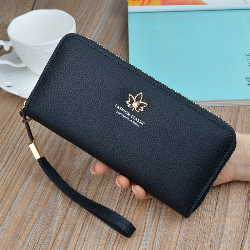 Wristband Women Long Clutch Wallet Large Capacity Wallets Female Purse Lady Purses Phone Pocket Card Holder Carteras