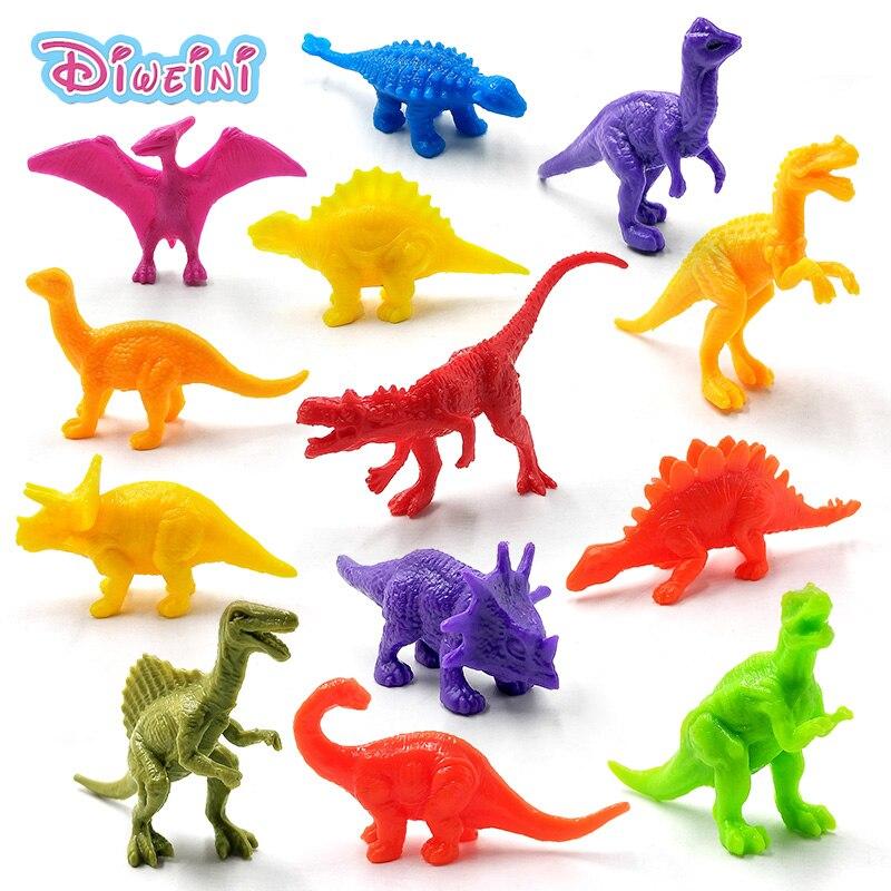 13pcs Dinosaur Carnotaurus Styracosaurus Brontosaurus Tyrannosaurus Rex Animal Model Action Figure Hot Toy Set For Children Kids