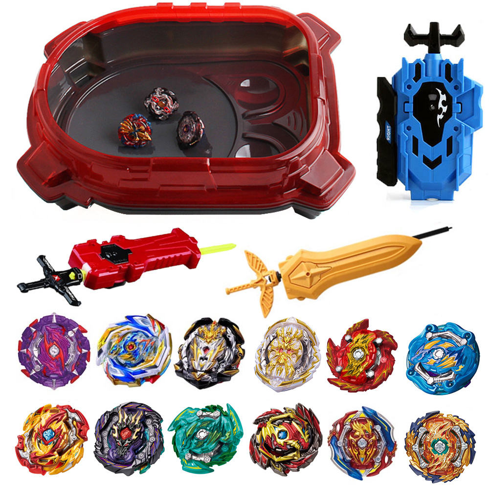 Hot Set Beyblade Arena Spinning Top Metal Fight Bey Blade Metal Bayblade Stadium Children Gifts Classic Toy For Child 421756