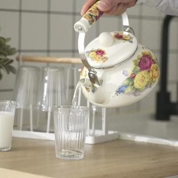 1 5L emalia emalia czajnik czajniczek Kung Fu fajny czajnik mleko czajniczek Flagon kuchenka indukcyjna gaz uniwersalny czajnik czajnik czajnik do herbaty tanie i dobre opinie CN (pochodzenie) Z emalią ceramiczną Ekologiczne CE UE b222