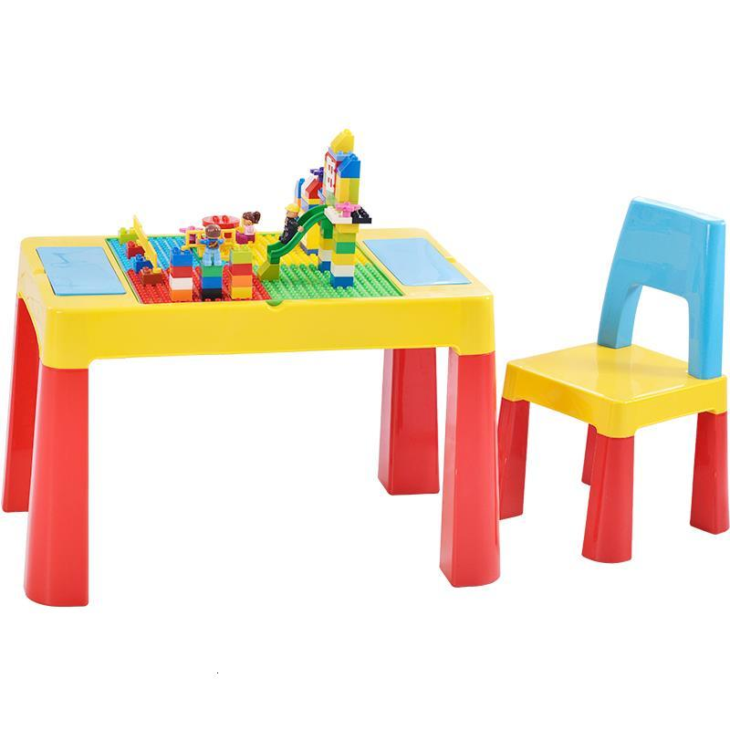 Per Bambini Children Y Silla Avec Chaise De Estudio Plastic Game Kindergarten Mesa Infantil Study For Bureau Enfant Kids Table