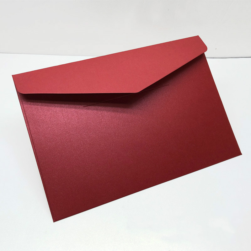50pcs/pack Western Envelopes Vintage 250gsm Pearl Paper Business, Wedding, Party, Anniversity Envelopes 193mmX133mm
