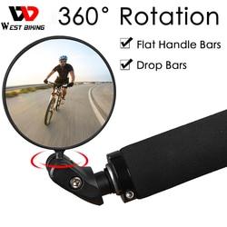 WEST BIKING Велосипедное Зеркало заднего вида 360 Поворот Безопасность Регулируемый заднего вида горный MTB руль для шоссейного велосипеда, руль д...