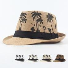 Соломенная шляпа от солнца для мужчин и женщин Пляжная Федора