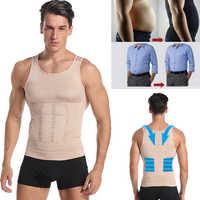 Be-en-forme hommes minceur gilet corps Shaper ventre contrôle Posture gynécologie Compression chemise sous-vêtements taille formateur Corset