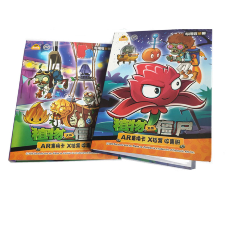3 Style Cartoon Anime Plants Vs. Zombies 160 Pcs Holder Album Toy Collection Cards Album Book Top For Kids Gift
