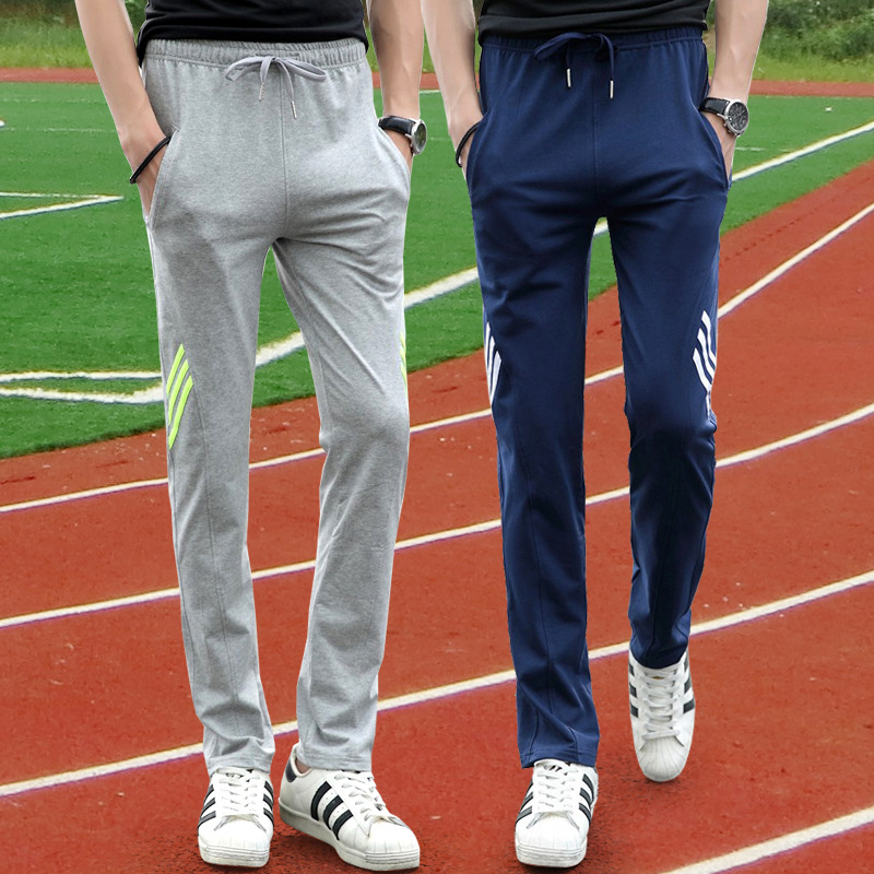 Autumn Athletic Pants Men Casual Long Pants Teenager Straight-Cut Loose-Fit Cotton Elastic Sweatpants Fashion K355