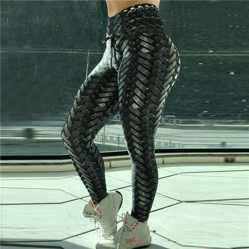 Iron Armor Weave Printed Leggings  Push Up 3D Workout Elastic Bowknot Fitness Pants Women High Waist Plus Size Leggins
