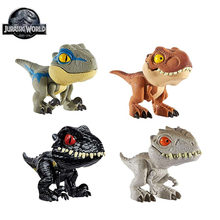 Jurassic World Finger Snap Squad Dinosaur Tyrannosaurus Rex GGN26 Velociraptor Blue Collectible Action Figure Toys for Kids Gift