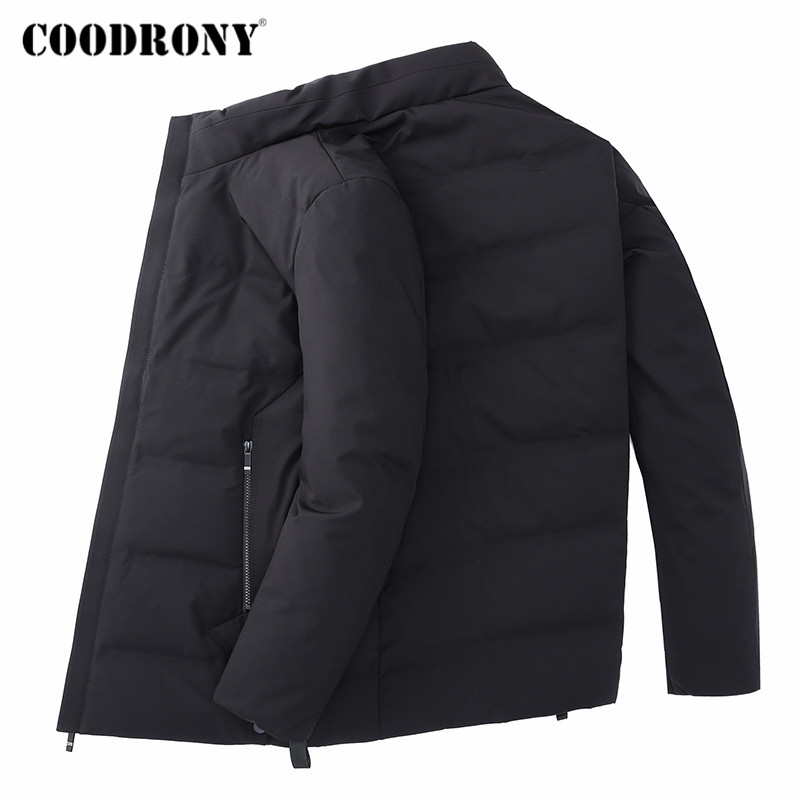 COODRONY Coat Men Jackets Winter Collar Casual New Autumn Thick Stand Brand 98032 Outwear title=