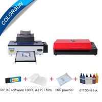 Colorsun A3 DTF 프린터 R1390 전송 필름 인쇄 패키지 직접 전송 필름 프린터 키트, 티셔츠 후드 캡 오븐 포함