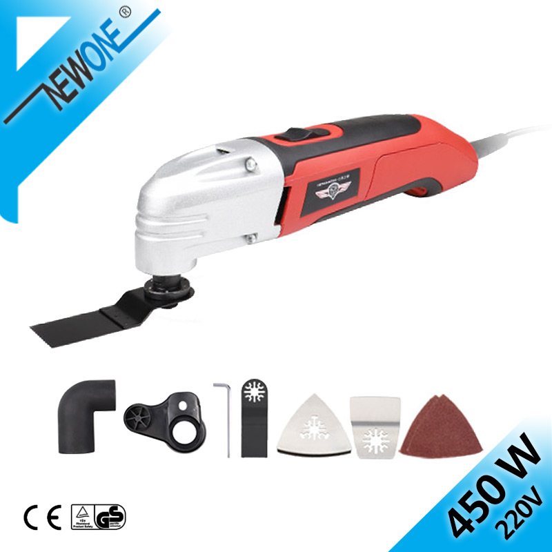 HEPHAESTUS 230V Oscillating Tool In 450W Oscillating Multi-Tool With Saw Blades,Variable Speed Function Trimmer Renovation Tool