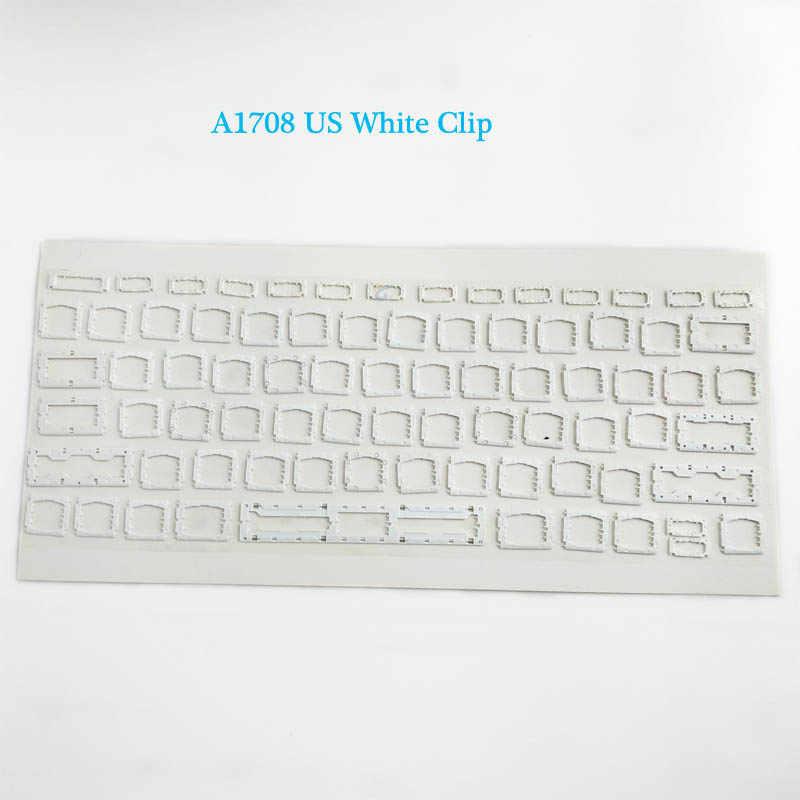 """Tampa Do Teclado Chave Clipe Branco para Macbook Pro 13 A1708 """"Retina Keycap EUA/REINO UNIDO/França/Espanhol /alemão/Japonês/Coreano/Italiano 2016"""