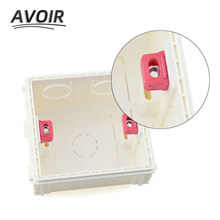 Avoir boîte de montage interne boîte de montage réglable 86mm * 86mm Type interrupteur mural prise Installation Cassette boîte câblage boîte arrière