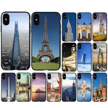 RuiCaiCa Famous buildings mobile phone case for huawei y5 ii y6 y7 y9 prime telephone accessories