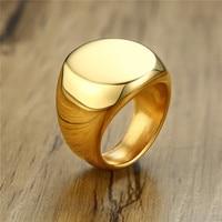 ZORCVENS-anillo de acero inoxidable para hombre, color dorado y plateado, negro, Punk, Vintage, pulido, regalos de joyería y anillos para boda, venta al por mayor