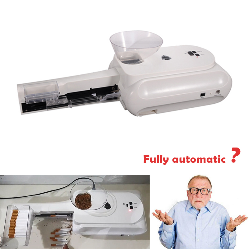 High Grade Electric Automatic Cigarette Rolling Machine Roll DIY Smoke Tool 10 Cigarettes/time Smoking Accessories Men Gift