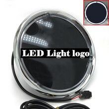 LED 라이트 로고 엠블럼 휘장 GLC X253 C253 GLE W166 C292 GLS W166 X166 클래스 2015 2019 프론트 그릴 배지 블랙