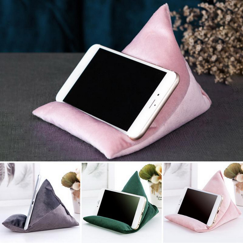 Laptop Soft Pillow Tablet Cushion Triangle Rice Dumpling Rainbow IPad Stand Tablets E-Readers Smartphones Book Magazines Holder