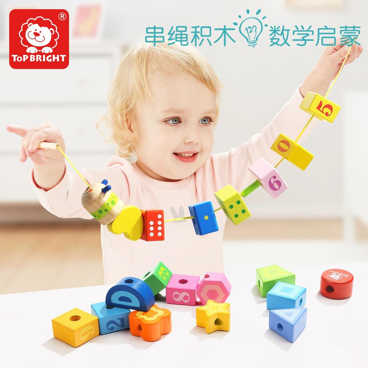 TOPBRIGHT Beaded Bracelet Children Toy Building Blocks Wear Beads Baby Toy Educational 1-2-3-Year-Old GIRL'S Handmade Wearing Ro