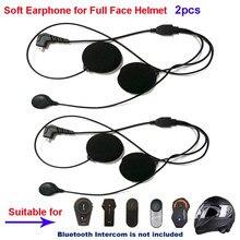 2 pçs acessórios da motocicleta intercom fone de ouvido macio mic para FDC-01VB T-COMVB TCOM-SC/02 colo tmax T-REX rosto cheio capacete