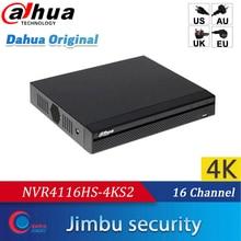 داهوا NVR4116HS 4KS2 16Ch 4K تصل إلى 8MP و H.265 NVR 1U لايت onvif nvr فيديو alhua مسجل HDMI/VGA في وقت واحد لغة متعددة