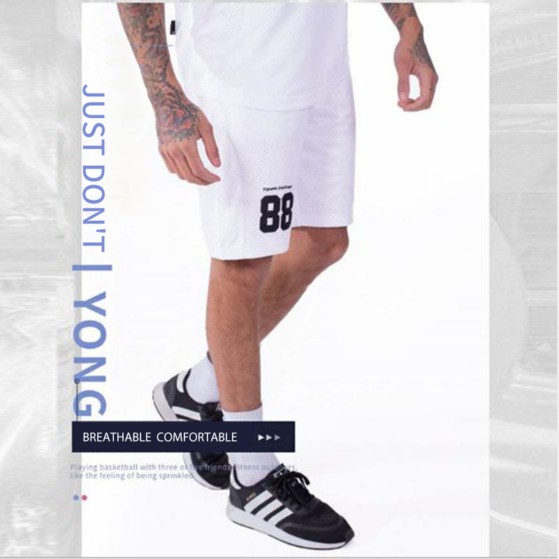 Retro Mesh Cool Sports Shorts Sports Basketball Squad Shorts Short Pants Cotton Soft  Material Adults PantsBig Size M - XXL