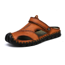 Classic Men Sandals Summer Soft Comfortable Men Slippers High Quality Genuine Leather Sandals Big Size Sandals Men Roman Shoes keerygo new high end leather comfortable feet sandals classic sandals