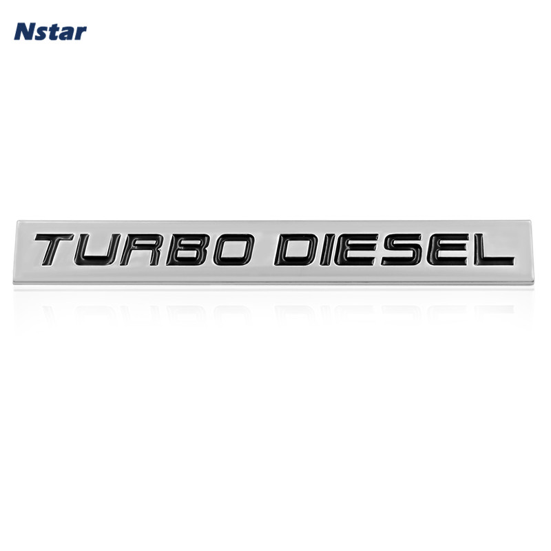 Nstar 1pc Turbo Diesel Alloy Emblem Car Side Wing Boot Trunk Styling Badge Auto Part Accessories Decoration Sticker 122
