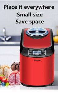 Image 2 - 1PC Home full automatic ICM 15A mini ice cream machine household intelligent ice cream maker 1.5L Capacity 140W Ice Cream Makers