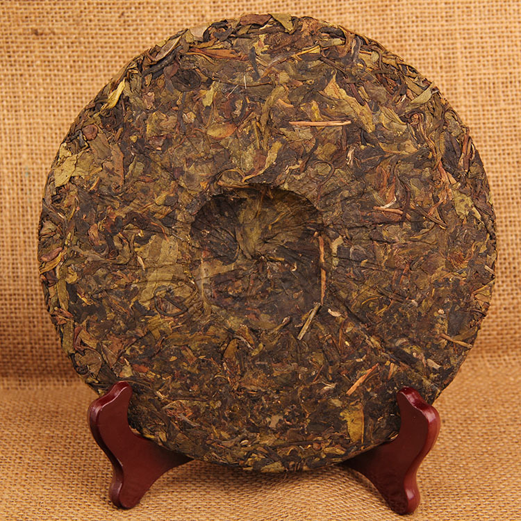 357g China Yunnan Raw Tea Ancient Tree Pu'er Tea Linyi Gold Leaf Green Food for Health Care Lose Weight 3