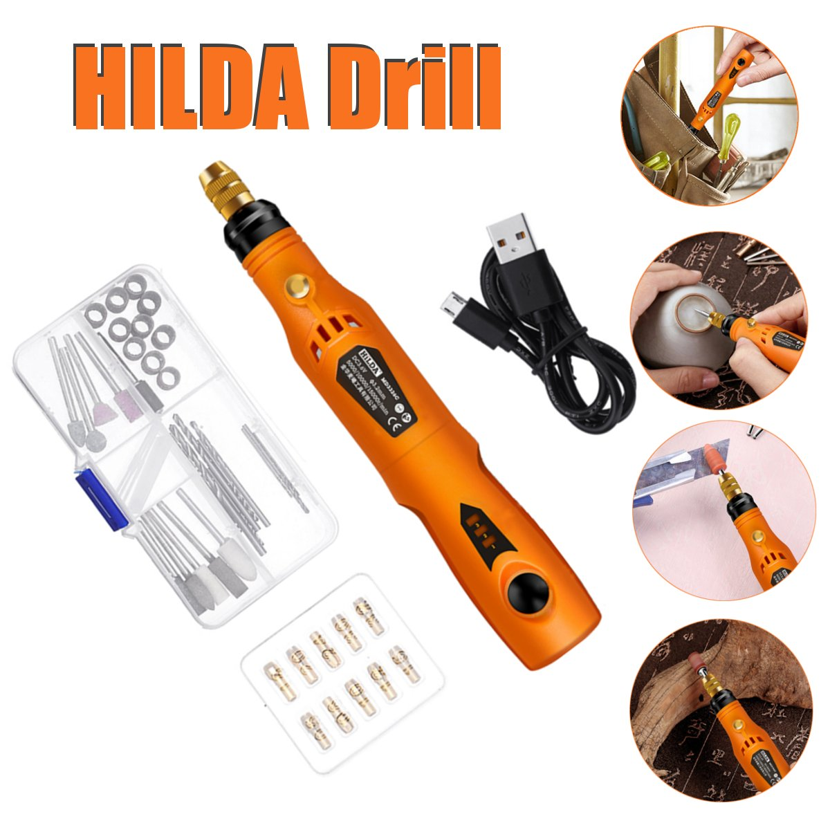 3.6V DC Variable Speed Rotary Tools DIY Mini Wireless Electric Grinder Set Wood Carving Pen For Milling Engraver