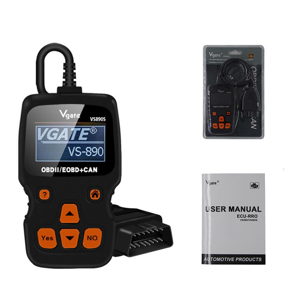 None Reading Card / Car Fault OBD2 Diagnostic Scanner Multi-language Supports For VGATE VS890S
