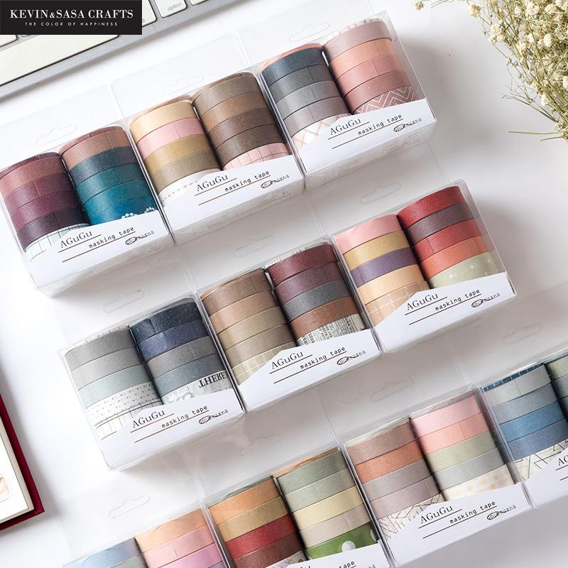 10Pcs Set Washi Tape School Supplies Masking Tape Stationery Gift Back To School Presented By Kevin&Sasa Crafts