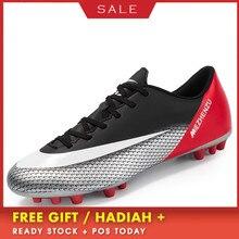 BOUSSAC Professional Men Kids Football Boots Outdoor Soccer Shoes Cleats Boys Original futsal Sneakers voetbalschoenen