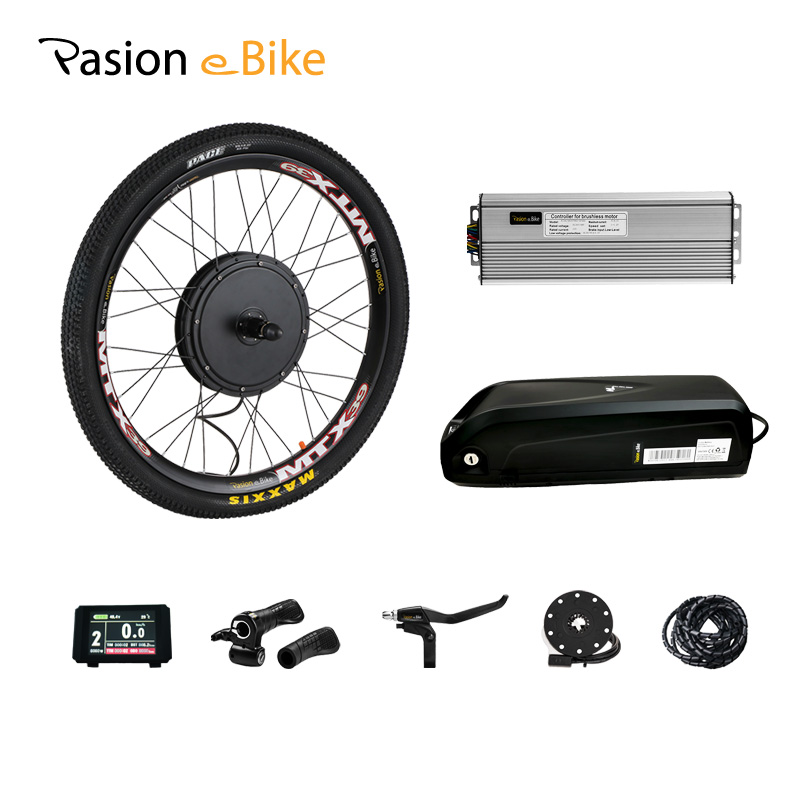 48V 1500W Electric Bike Conversion Kit With Battery 52V 12AH E Bike Conversion Kit With Battery Electric Motor Kit With Battery