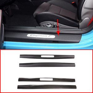 Image 5 - For LHD & RHD For Porsche 718 16 20 For Porsche 911 16 2018 Real Carbon Fiber Car Inner Door Protect Plate Car Accessories