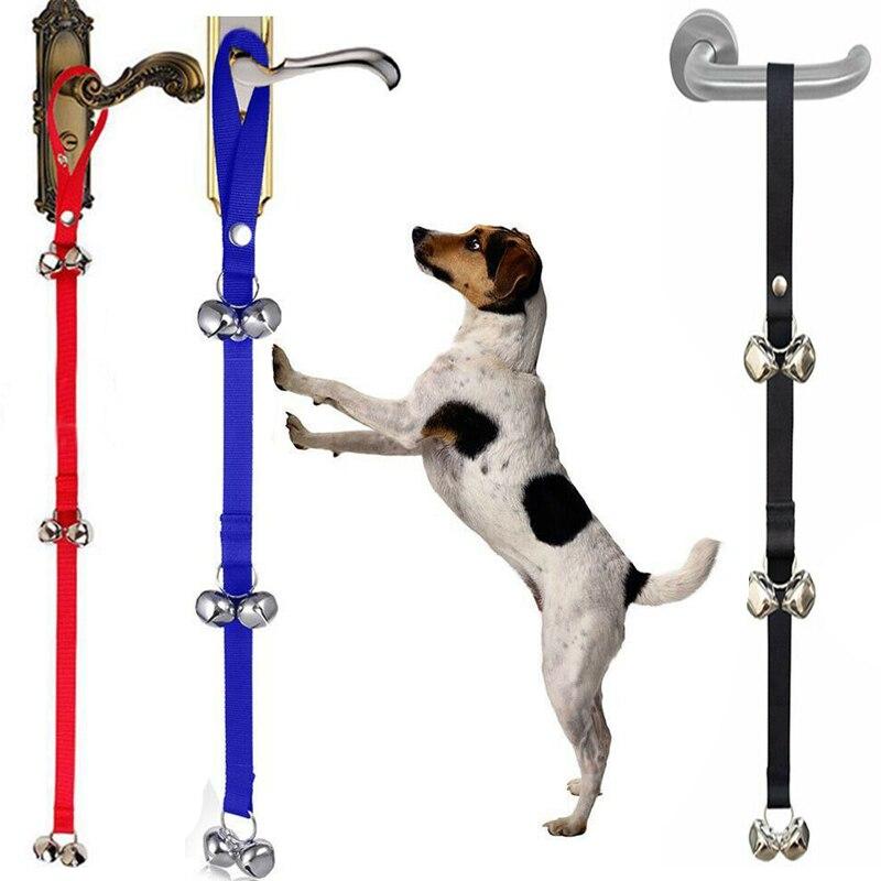 Dog Doorbells Premium Quality Training Potty Great Adjustable Dog Bells for Housebreaking Clicker Door Bell Training Tool-0