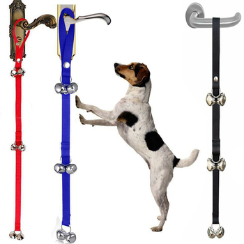 Dog Doorbells Premium Quality Training Potty Great Adjustable Dog Bells for Housebreaking Clicker Door Bell Training Tool