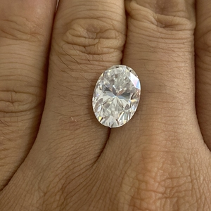 4*6mm ovale coupe 0.4 carat blanc Moissanite pierre Moissanite en vrac diamant pour la fabrication d'anneaux