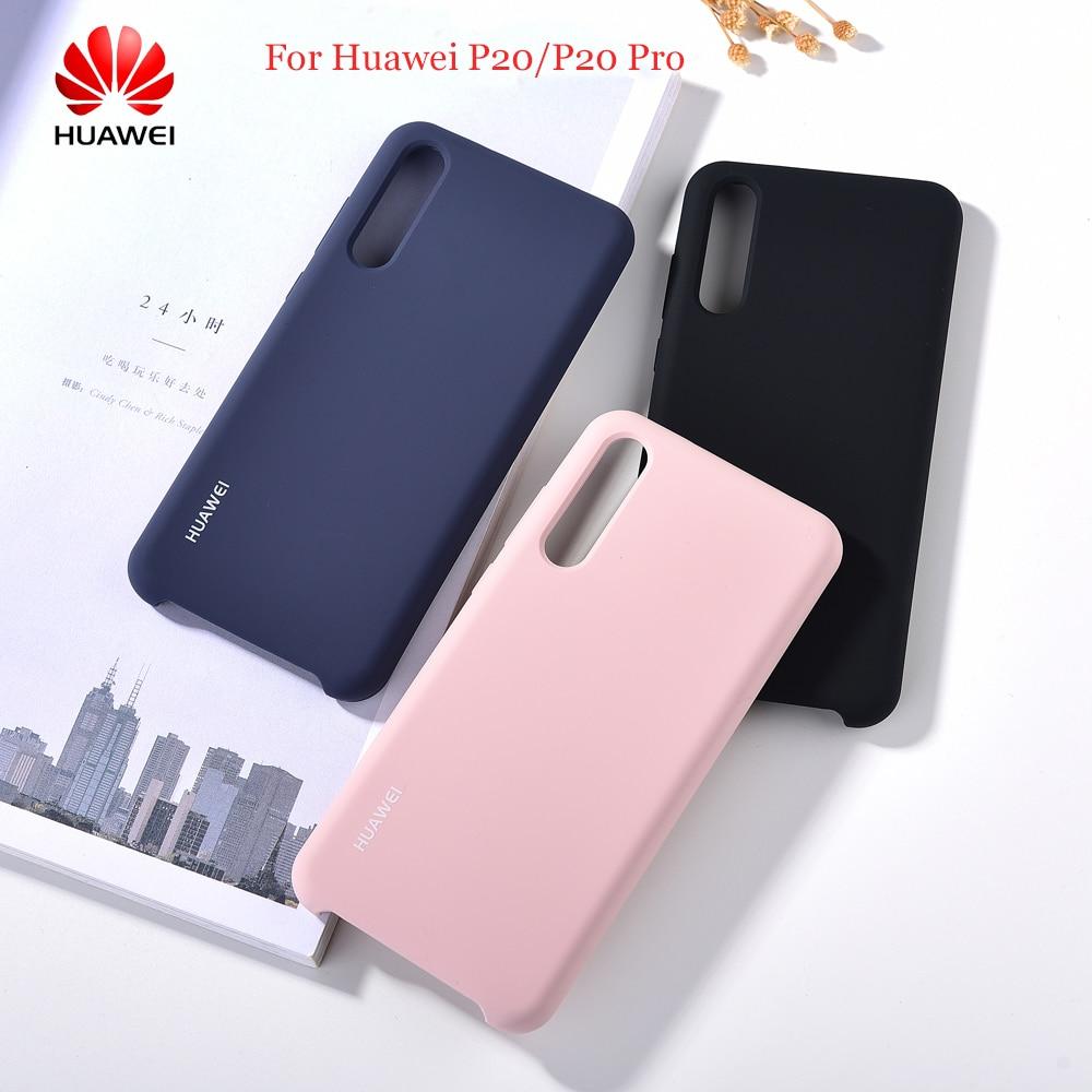Чехлы из жидкого силикона для Huawei P20 Pro, оригинальные шелковистые мягкие на ощупь Защитные чехлы для HUAWEI P20/P20pro, чехлы для телефонов