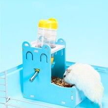Hamster Kettle Feeder Eco Wood Board Pet Food Rack Mini Food Bowl Hamster Cage Accessories mini bowl