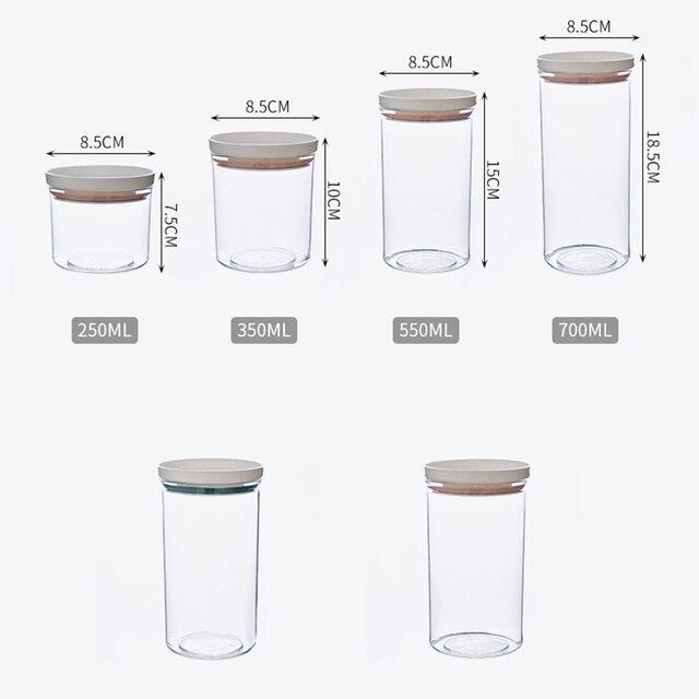 кухня герметичный зерна фасоли контейнер для специй прозрачный фотография