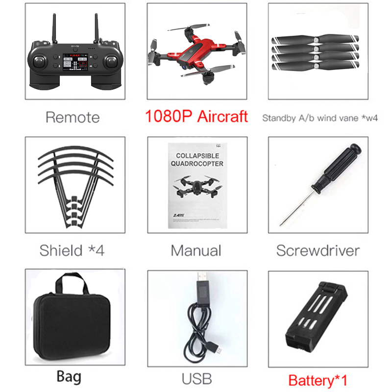 HJ68 Foldable Profissional Drone With Camera 4K HD Selfie Auto Follow WiFi FPV Wide Angle RC Quadcopter Helicopter Toy S167 G901