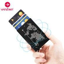 RFID Anti-diebstahl luxus ID Karte Halter Unisex Automatisch Solide Metall Bank Kreditkarte Halter Brieftasche Frauen Männer Aluminium fall