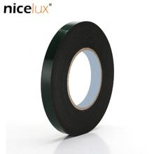 5/8/10-/.. Foam-Sponge Black Sealing-Strip Double-Sided-Tape Green-Film Strong Thick