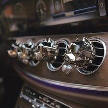 Creative Bulldog Air Freshener Car Perfume Car Decoration Auto Geur Clip Bulldog Fragrance Scent Parfum Voiture Car Diffuser