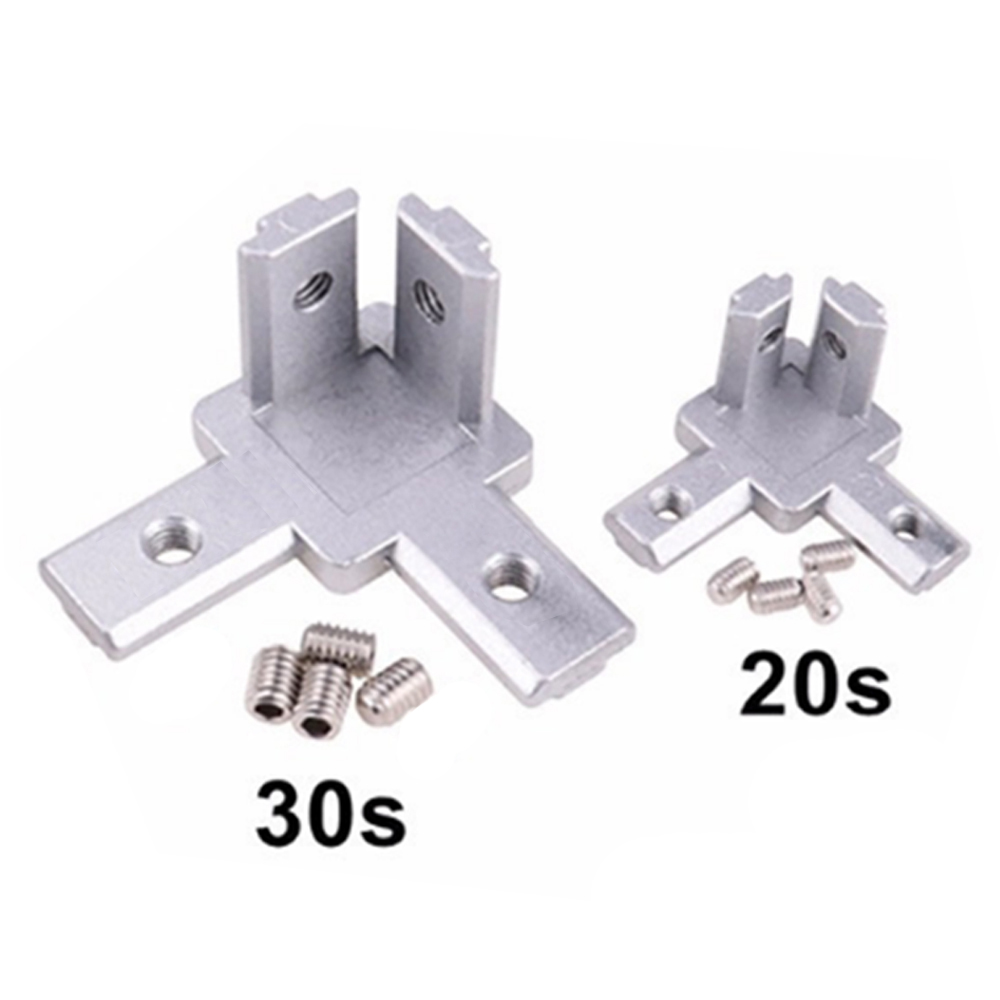 20S 30S 3-Way End Corner Bracket Connector for 2020 3030 Series Aluminum Extrusion Profile image
